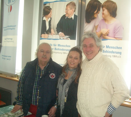 Foto: Gerhard Hackbart, Pitty Smith und der Stadtverordnete Achim Weidner